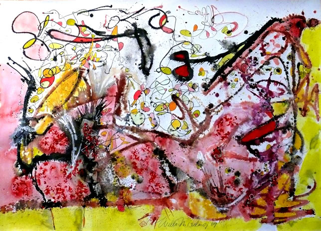 Wilbur M Reeling Abstract Expressionist Art Sale By
