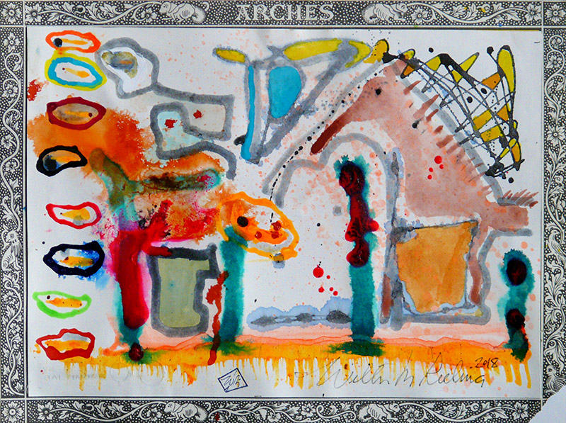 Wilbur M Reeling Abstract Artist, 2018-Arches 004