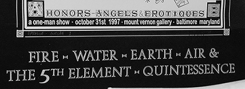 Fire Water Earth Air and the 5th Element Quintessence